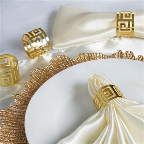 Alumunium Napkin Ring 12 pcs aluminum napkin rings wedding catering