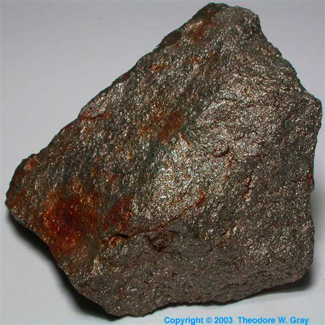 Uuq Periodic Table Ferrochrome Lump A Sample Of The Element Iron In The