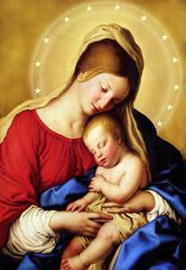 Of mary the mother of god we turn our gaze toward the blessed