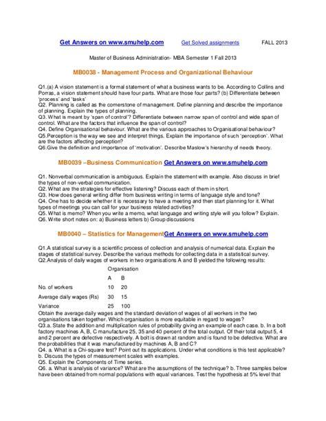 Smu Mba Project Presentation by Smu Mba Semester 1