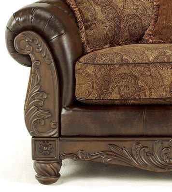 ashley durablend antique sofa fresco durablend antique bonded leather sofa by ashley