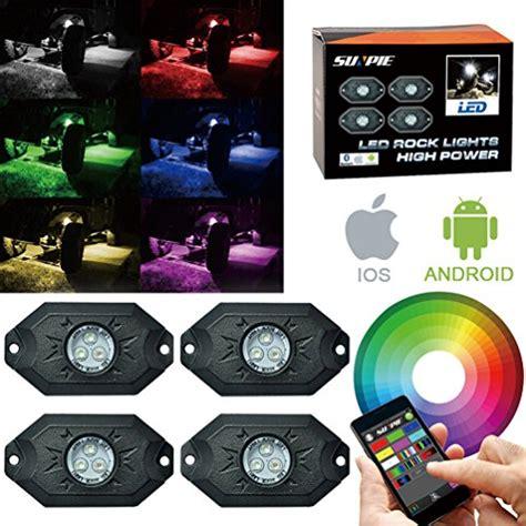 rgb rock lights app rgb led rock light kits with phone app cell