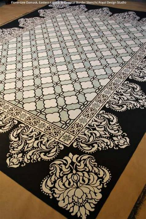 diy painted rug stencil 15 diy stylish stenciled rug projects royal design studio stencils