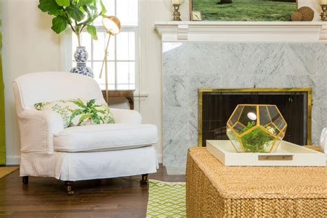 Green Marble Fireplace Makeover by House Hunters Renovation 20 Inspiring Spaces House