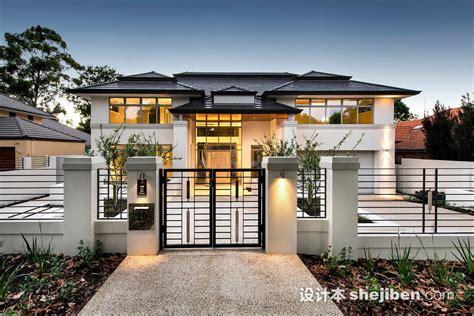 Japanese Home Design Australia 别墅围墙大门图片欣赏 设计本装修效果图