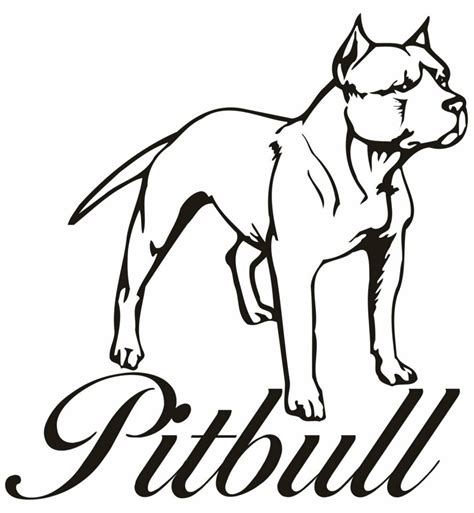 pitbull coloring pages selfcoloringpages com