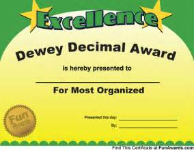 Making up your own funny awards for teachers and students