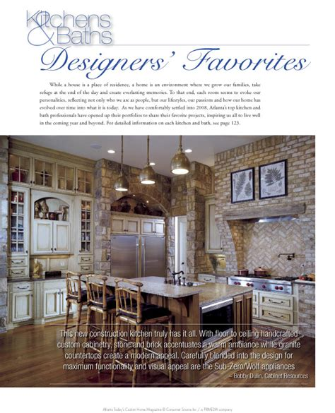 custom home magazine quot today s custom home quot magazine kitchen feature cabinet resources