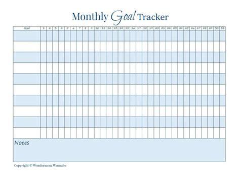 How To Make Health A Habit Goal Progress Tracker Template