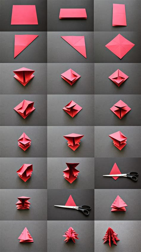 Folded Paper Tree - diy origami tree do it yourself