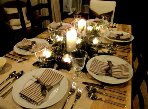 Dinner Table Decoration Wonderful Dinner Table Decoration Ideas With Cutlery Set Homelk