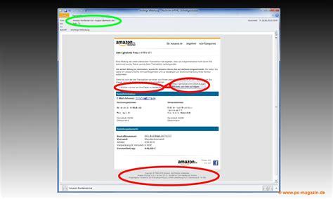 amazon si鑒e amazon spam vorsicht vor phishing e mail mit echten daten