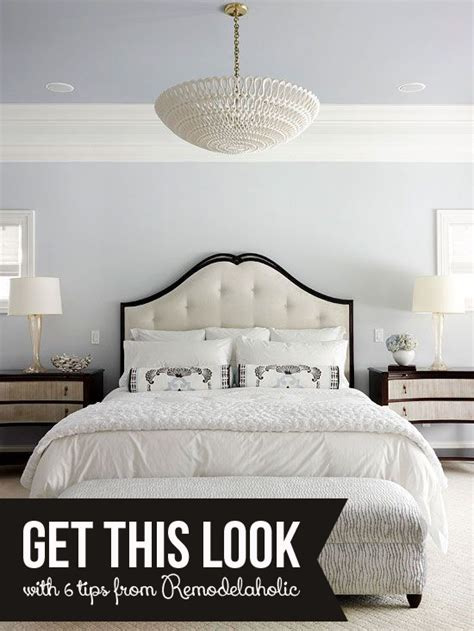 white bedroom l remodelaholic get this look calm gray and white bedroom