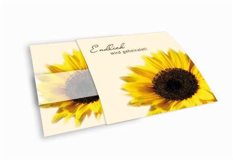 Hochzeitseinladung Kuvert by Hochzeitseinladung Sonnenblume In Ihrer Pracht