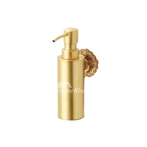 delightful Powder Room Wall Art #2: LTJ-Antique-Brass-Soap-Dispenser-Wall-Mount-Polished-HOIS30028-2.jpg