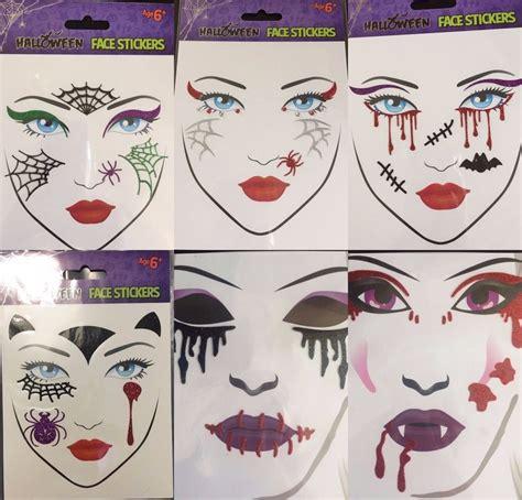 body tattoo stickers uk halloween glitter face tattoo stickers gem fancy dress