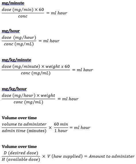 Nursing Dosage Calculations Worksheets