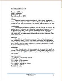 Business For Bank Loan Template by Business Letter For Bank Loan Sle Cover
