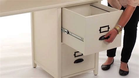 desk with hutch and file cabinet organize files and folders with this stylish file cabinet