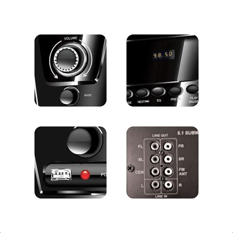 Home Theater Multimedia buy flow flash bluetooth 5 1 multimedia speaker home theater system in india 89651157