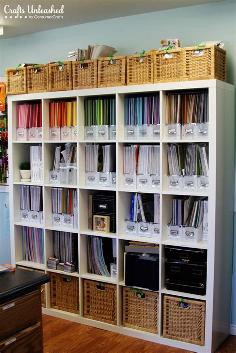 Craft Room Paper Storage - craft room tour organizational storage ideas