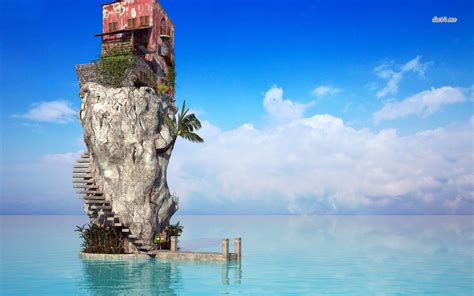 house of rock house on top of the rock wallpaper digital art wallpapers 43478