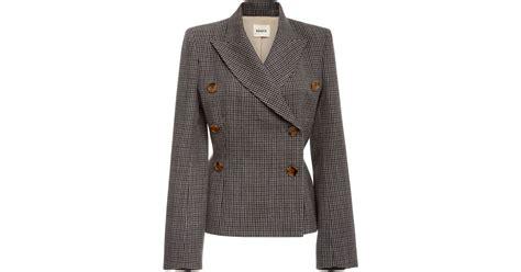 Cathy Jacket Blazer lyst khaite cathy wool breasted blazer in brown