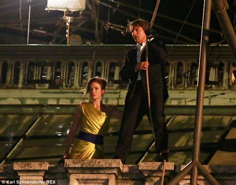 rebecca ferguson hercules mission impossible s tom cruise hangs from vienna opera