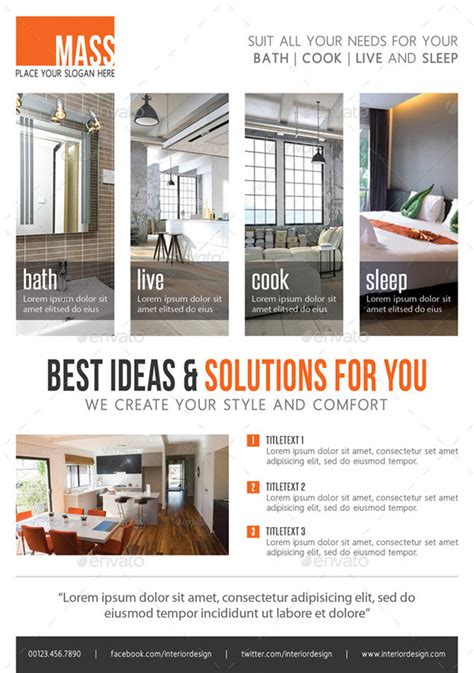 Flyer Interior Design by 10 Comprehensive Package Of Interior Design Ideas