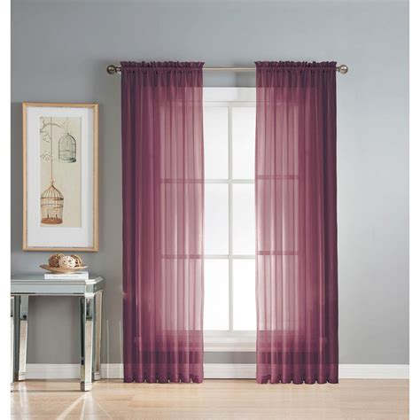 plum and gold curtains window elements sheer diamond sheer 56 in w x 90 in l