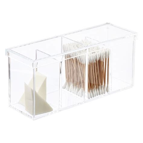 Acrylic Bathroom Storage Acrylic 4 Section Box The Container Store