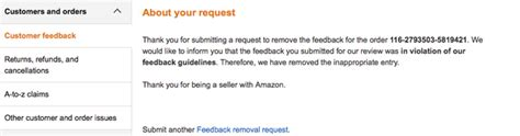 remove negative feedback amazon fba how to remove negative feedback on amazon sellbrite