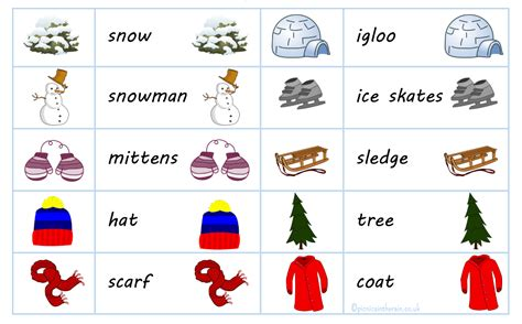 free printable word matching games winter word picture match game with free printable