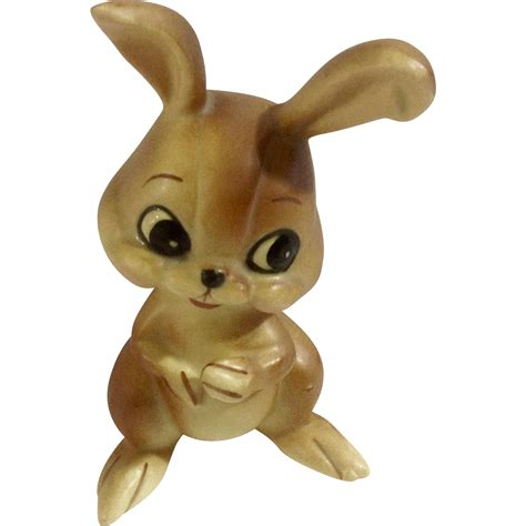 Vintage Bunny Figurine Shop Collectibles - vintage josef originals bunny rabbit made in japan ceramic