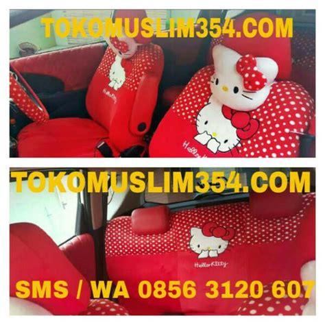 Sarung Jok Mobil Hellokitty sarung jok mobil 18 in 1 hello merah bantal mobil