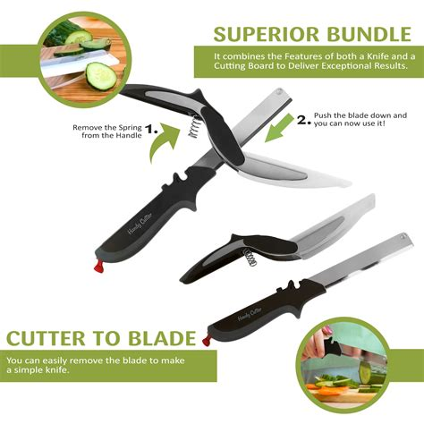 Great Croissants Cutter As Seen Tv 1 handy clever cutter bundle 2 in 1 food chopper kitchen knife and cutting board scissors as seen
