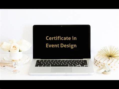 event design certification certificate in event design youtube