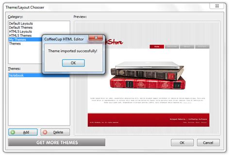 themes for coffeecup html editor importing themes to the html editor coffeecup software