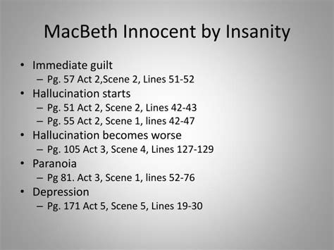 themes macbeth guilt ppt macbeth 1 st degree murder powerpoint presentation