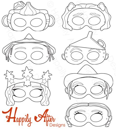 printable wizard mask wizard of oz masks colouring pages