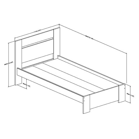 twin bed frame for headboard and footboard southshore flexible collection twin bed kit headboard