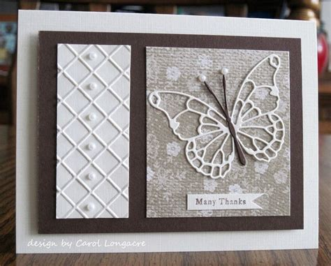 Pretty Handmade Cards - 88 best images about cards dies memory box butterflies