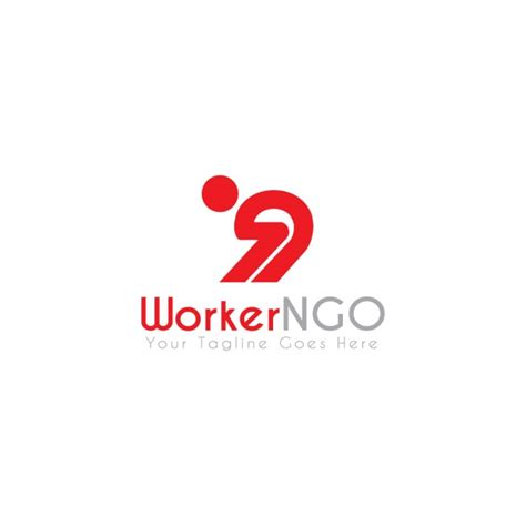 free logo design ngo worker ngo logo template vector free download
