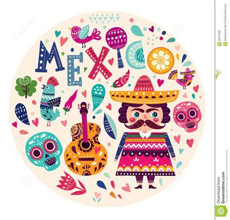 imagenes simbolos patrios de mexico symbols of mexico stock vector illustration of mexican