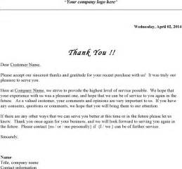 the business thank you letter can help you make a