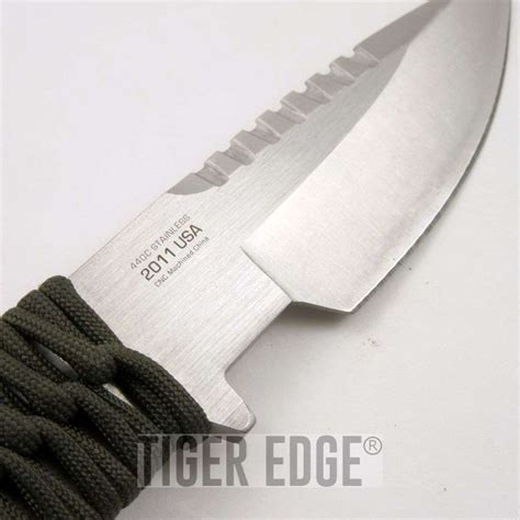 thick blade knife mtech silver thick blade survival knife