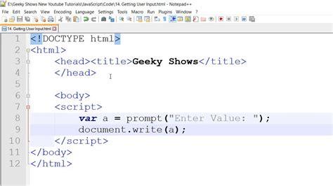 tutorial javascript prompt prompt method getting input from user in javascript hindi