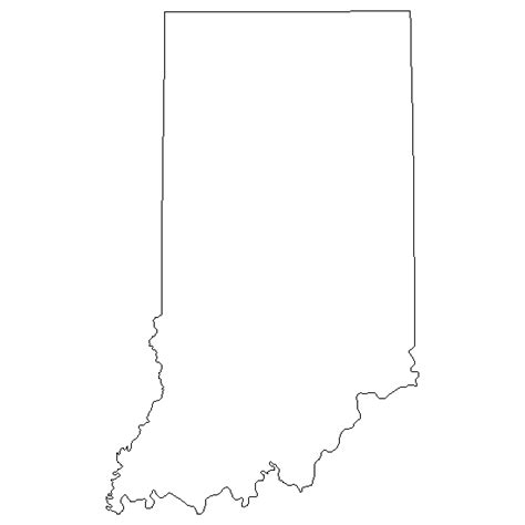 indiana state map coloring page go printables