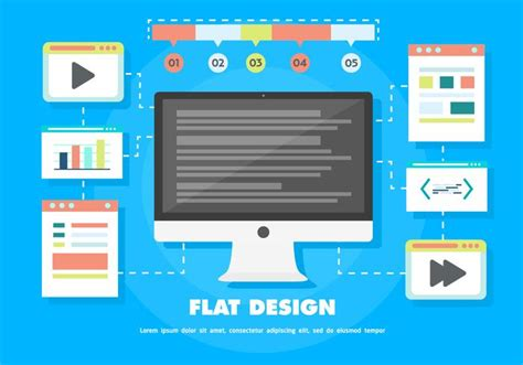 layout download pc free flat digital marketing vector background with