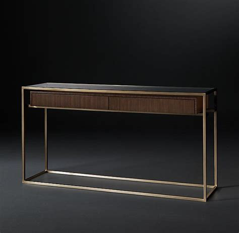 modern console table rh modern s kennan console table a single wooden drawer
